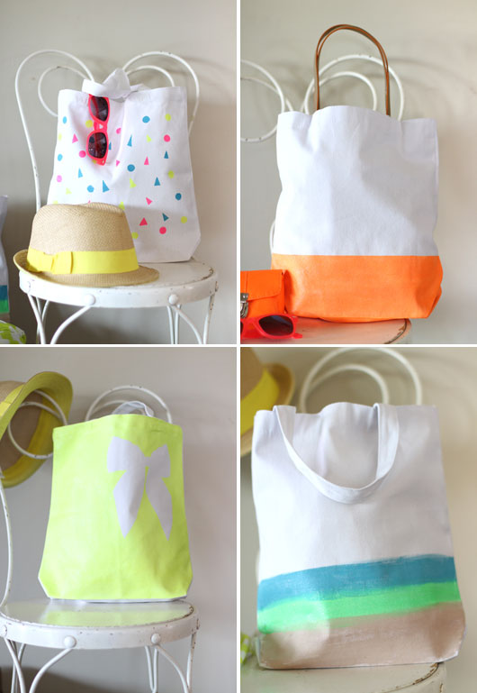 DIY-Neon-Painted-Canvas-Tote-Bags