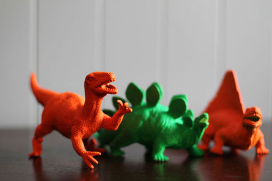 DIY-Neon-Painted-Dinosaurs