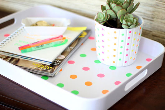 DIY-Neon-Polka-Dot-Tray