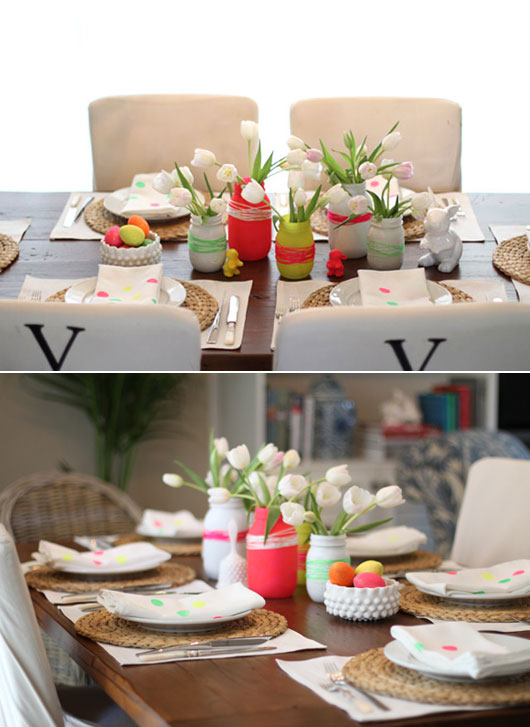 Neon-Easter-Table-Decor