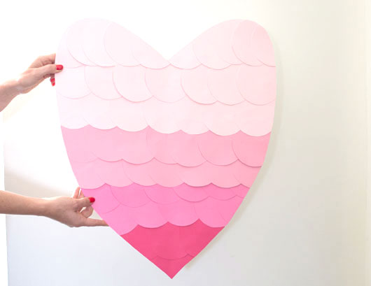 Ombre Paper Hearts