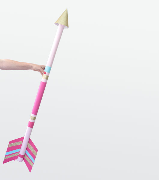 DIY Giant Cupid's Arrow