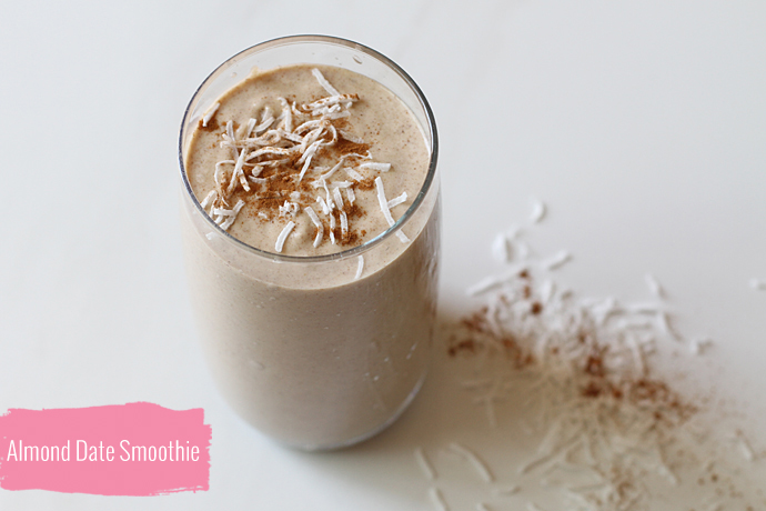 Almond & Date Smoothie, With Maca - For the Love of... For the Love of ...