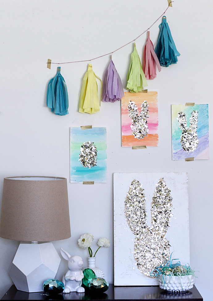 Gold Confetti Easter Art