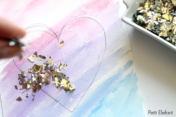 Gold-Confetti-Heart-Art-4