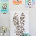 Easter Bunny Gold Confetti Art