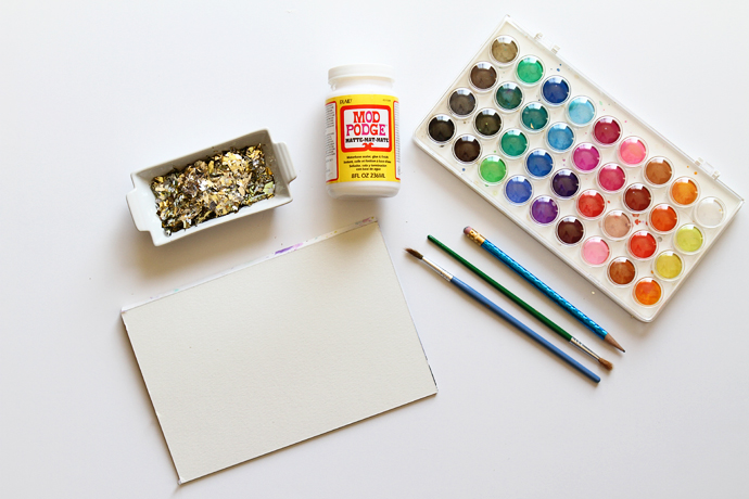 Gold confetti easter art supplies