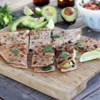 Vegetable and Goat Cheese Quesadillas