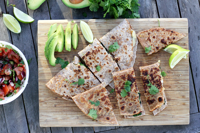 Sauteed Vegetable Quesadillas