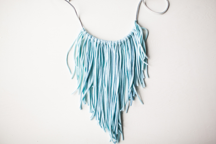 T-Shirt Fringe Necklace DIY