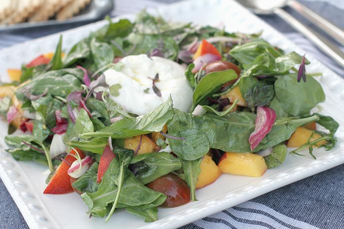 burrata-peach-salad