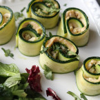 Pesto Zucchini Roll-Ups from For The Love Of
